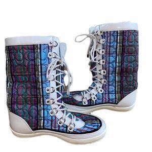 Coach Peggy Snow Boots - Multi-Color Size 8.5